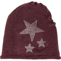 Czapka bonprix bordowy. Czerwone czapki zimowe damskie marki bonprix. Za 34,99 zł.