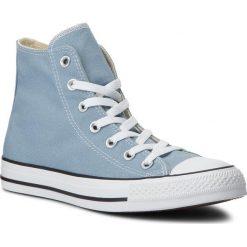Trampki CONVERSE - Ctas Hi 162114C Washed Denim. Niebieskie tenisówki męskie Converse, z denimu. W wyprzedaży za 209,00 zł.