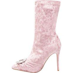 Botki damskie lity: Public Desire DISTINCT Botki na obcasie glitter pink