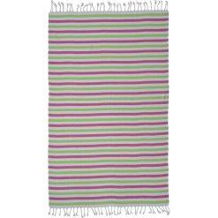 Kąpielówki męskie: Ręcznik w kolorze biało-zielono-różowym