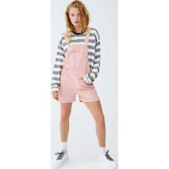 Krótka koszulka w paski. Szare t-shirty damskie Pull&Bear, w paski. Za 69,90 zł.