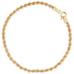 Bransoletki damskie na nogę: Unikalna Złota Bransoletka - złoto żółte 333