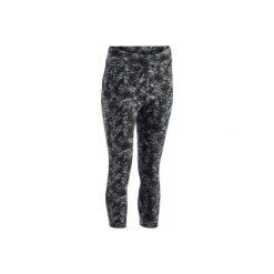 Legginsy 7/8 520 Gym. Czarne legginsy sportowe damskie marki DOMYOS, z elastanu. W wyprzedaży za 34,99 zł.