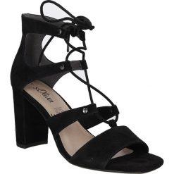 Sandały czarne zamszowe wiązane S.Oliver 5-28334-28. Szare sandały damskie marki S.Oliver, z gumy. Za 199,99 zł.