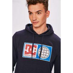 DC - Bluza. Szare bluzy męskie rozpinane marki DC, l, z nadrukiem, z bawełny, z kapturem. W wyprzedaży za 199,90 zł.