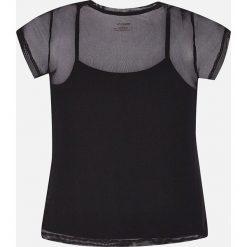 Mayoral - Top dziecięcy 128-167 cm. Czarne bluzki dziewczęce bawełniane Mayoral, z nadrukiem, z okrągłym kołnierzem, z krótkim rękawem. Za 89,90 zł.