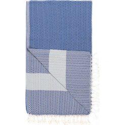 Kąpielówki męskie: Chusta hammam w kolorze niebiesko-turkusowym – 180 x 95 cm