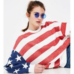 Bluzy rozpinane damskie: Bluza z amerykańską flagą