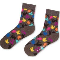 Skarpety Wysokie Unisex HAPPY SOCKS - DEE01-8000 Kolorowy Szary. Szare skarpetki damskie Happy Socks, w kolorowe wzory, z bawełny. Za 34,90 zł.