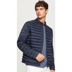 Pikowana kurtka ze stójką - Granatowy. Niebieskie kurtki męskie pikowane Reserved, l. Za 119,99 zł.