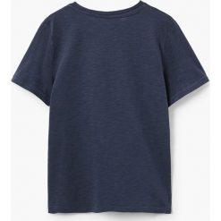 Mango Kids - T-shirt dziecięcy Epetboy 104-164 cm. Różowe t-shirty chłopięce z nadrukiem marki Mango Kids, z bawełny, z okrągłym kołnierzem. Za 29,90 zł.