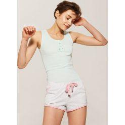 Piżamy damskie: Piżamowy top – Zielony