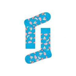 Skarpetki Happy Socks BAN01-6000. Brązowe skarpetki męskie marki Happy Socks, z bawełny. Za 24,43 zł.