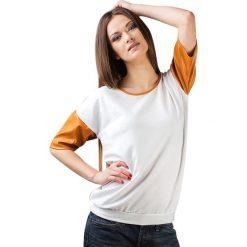 Topy sportowe damskie: Bluzka w kolorze biało-brązowym