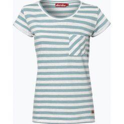 Derbe - T-shirt damski z dodatkiem lnu – Vivien, zielony. Zielone t-shirty damskie marki Derbe, l, w paski. Za 129,95 zł.
