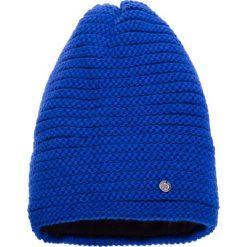 Czapki damskie: Kobaltowa prążkowana czapka QUIOSQUE