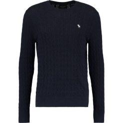 Swetry klasyczne męskie: Abercrombie & Fitch PREPPY CABLE MOOSE CREW NECK Sweter navy