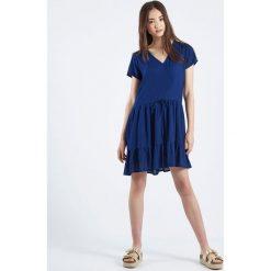 Sukienki hiszpanki: Sukienka Vestido Azul Ada