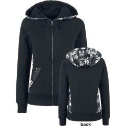 Bluzy rozpinane damskie: Gothicana by EMP Skull Flower Hoodie Jacket Bluza z kapturem rozpinana damska szary