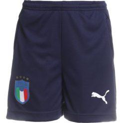Puma FIGC ITALIEN Krótkie spodenki sportowe peacoat. Niebieskie spodenki chłopięce Puma, z materiału, sportowe. Za 149,00 zł.