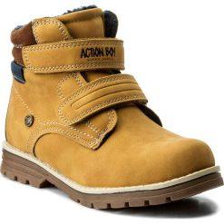 Buty zimowe chłopięce: Trapery ACTION BOY – CP07-16844-05 Miodowy