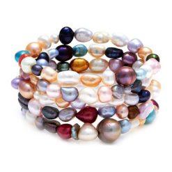 Bransoletki damskie na nogę: Bransoletka (5 szt.) z perłami