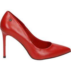 Czółenka - 3700-F5S2 ROS. Różowe buty ślubne damskie Venezia, ze skóry. Za 299,00 zł.