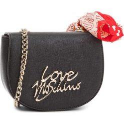 Torebka LOVE MOSCHINO - JC4053PP15LE000B Nero/Logo Oro. Czarne torebki klasyczne damskie Love Moschino, ze skóry ekologicznej. W wyprzedaży za 399,00 zł.