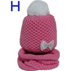 Czapka dziecięca z kominkiem CZ+K 141. Fioletowe czapeczki niemowlęce Proman. Za 62,00 zł.