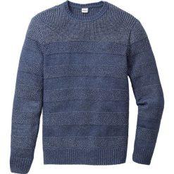 Sweter Regular Fit bonprix niebieski. Szare swetry klasyczne męskie marki bonprix, l, melanż. Za 59,99 zł.