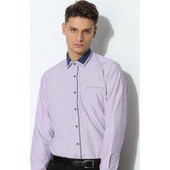 Fioletowa Koszula Darker Collar. Czarne koszule męskie marki Born2be, l, z aplikacjami, z dresówki. Za 39,99 zł.