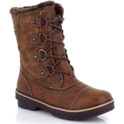 """Buty zimowe damskie: Kozaki """"Sylvie"""" w kolorze brązowym"""