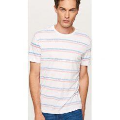 T-shirt w paski - Pomarańczo. Szare t-shirty męskie Reserved, l, w paski. W wyprzedaży za 24,99 zł.