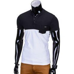 T-SHIRT MĘSKI BEZ NADRUKU S662 - CZARNY. Czarne t-shirty męskie z nadrukiem Ombre Clothing, m, z bawełny. Za 29,00 zł.