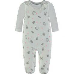 Pajacyki niemowlęce: 2-częściowy zestaw w kolorze biało-szarym