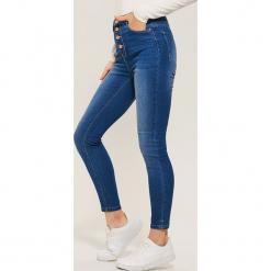 Jeansy high waist skinny - Niebieski. Niebieskie boyfriendy damskie House, z jeansu. Za 89,99 zł.