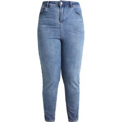 Boyfriendy damskie: New Look Curves LACE UP SIDE TILLY Jeans Skinny Fit mid blue