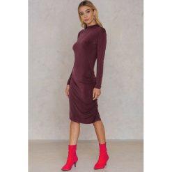 Sukienki hiszpanki: Second Female Sukienka z długim rękawem Yoyo – Red,Purple