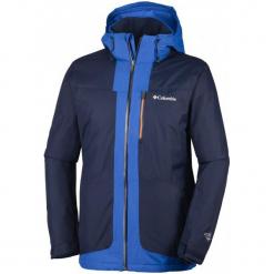 Columbia Kurtka Peyto's Pitch Collegiate Navy Xl. Niebieskie kurtki narciarskie męskie Columbia, na zimę, m, z materiału. W wyprzedaży za 377,00 zł.