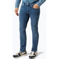 Calvin Klein - Jeansy męskie, niebieski. Pomarańczowe jeansy męskie marki Calvin Klein, l, z bawełny, z okrągłym kołnierzem. Za 499,95 zł.