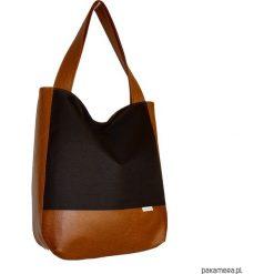 5433 ankate, duży czarny worek na ramię, shopper. Szare shopper bag damskie marki Pakamera, do ręki, matowe. Za 135,00 zł.