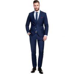 Garnitur LEONARDO GAGS000028. Niebieskie garnitury marki Bertoni, z elastanu. Za 699,00 zł.