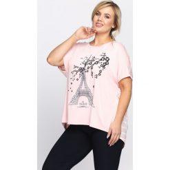 Różowy T-shirt Diamonds Is Forever. Czerwone bluzki damskie Born2be, l. Za 29,99 zł.
