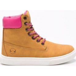 Andy-Z - Botki. Różowe buty zimowe damskie Andy-Z, z gumy, z okrągłym noskiem, na sznurówki. W wyprzedaży za 69,90 zł.
