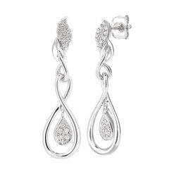 Kolczyki damskie: Złote kolczyki-wkrętki z diamentami