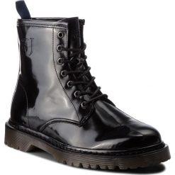 Trapery TRUSSARDI JEANS - 77A00126 K299. Czarne glany męskie marki Trussardi Jeans, z jeansu. W wyprzedaży za 569,00 zł.
