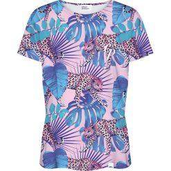 Colour Pleasure Koszulka damska CP-030 274 różowo-niebieska r. XXXL/XXXXL. Fioletowe bluzki damskie marki Colour pleasure, uniwersalny. Za 70,35 zł.