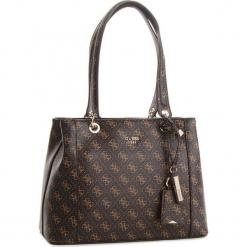 Torebka GUESS - HWQE66 91360  BRO. Brązowe torebki klasyczne damskie Guess, z aplikacjami, ze skóry ekologicznej, duże. Za 629,00 zł.