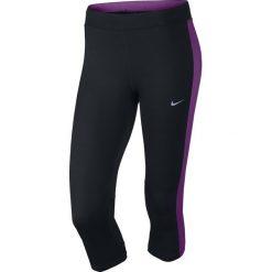 Legginsy do biegania damskie 3/4 NIKE DRI-FIT ESSENTIAL CAPRI / 645603-017 - NIKE DRI-FIT ESSENTIAL CAPRI. Czarne legginsy sportowe damskie Nike. Za 79,00 zł.
