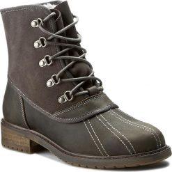 Trapery EMU AUSTRALIA - Utah W11364 Charcoal. Szare buty zimowe damskie marki EMU Australia, z nubiku, na obcasie. W wyprzedaży za 449,00 zł.